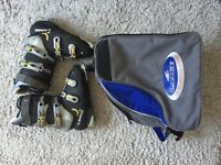 Men's Ski Boots & bag - Lange Comp 100, UK size 10
