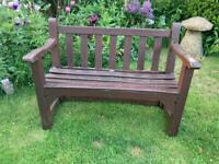 Two seater bespoke, heavy, hardwood two seater quality Garden Bench