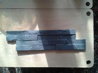 Splitface Black Slate Mosaic Tiles - Z tile 3d stone cladding wall