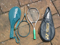 yonex and wilson tennis raquets