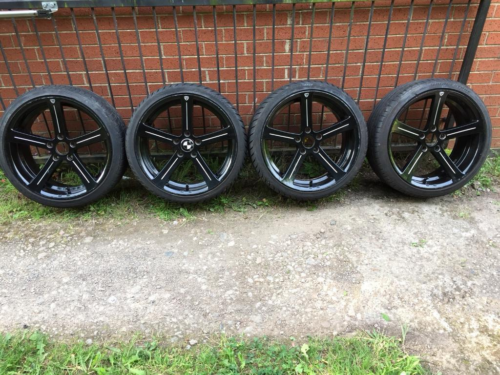 """Bmw alloy wheels cades 19"""" with tyres"""
