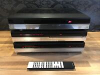 Refurbished Beosystem 7000 – Beomaster, Beogram CD player, Beocord cassette, Bang and Olufsen B&O.
