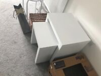 White high gloss side tables