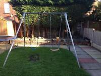 TP double galvanised garden swing.