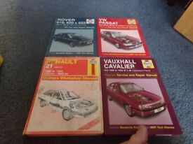 FOUR HAYNES CAR MANUALS, VAUXHALL CAVALIER , VW PASSAT, ROVER, RENAULT