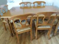 Dining Room Table w Six Chairs