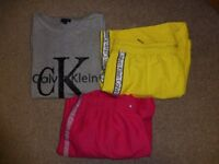 Mens Designer Calvin Klein Clothes Bundle. T-shirt & Swimming shorts. Size Large and Extra Large