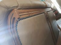 2 piece leather sofas, 3 seater and a 2 seater