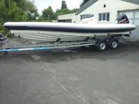 Rib Boat Mark Pascoe SR8 Sport Rib Mercury 200hp Optimax Power boat