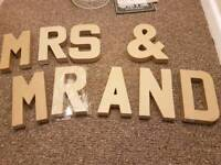 3D craft letters not used