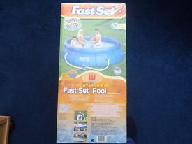 BESTWAY ORIGINAL 10FT SWIMMING POOL WITH FILTER PUMP AND CARTRIDGE AND PUNCTURE REPAIR KIT BRAND NEW