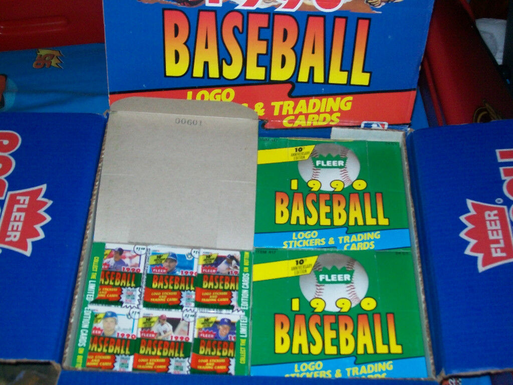 Dads old baseball cards Unopened packs from 20 years ago Huge Lot