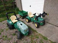 John Deere tractors & trailer by Rolly