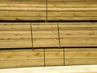 NEW TANALISED TREATED SCAFFOLD BOARDS 3.9 METRE X 225MM X 35MM