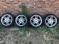 """Mercedes 18"""" AMG alloys with tyres"""