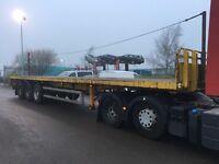 2008 montracon tri axle flat trailer