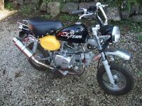 Skyteam 2013 monkey bike 125cc. Only done 20 miles from new