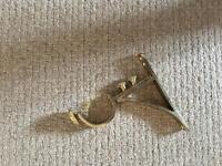 Curtain PB brass end brackets 63mm