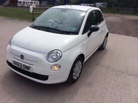 2013 Fiat 500 pop, 1.2 petrol. First registration 12.12.2013. ONLY 9950 MILES!!