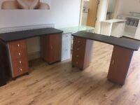 2 Ex display desks for Manicure/Work
