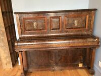 upright piano, free to collector, lovely sound and on the ground floor