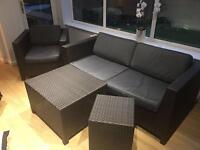 M&S Rattan Indoor/Outdoor Conservatory Furniture (4 Piece)