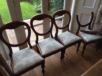 4 Balloon Back Chairs - in need of restoration