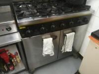 Buffalo cooker 6 burners and oven