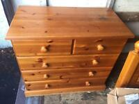 Pine chest of drawers delivery available locally