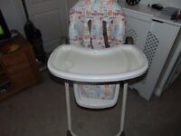 Adjustable high chair, very good condition