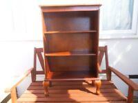 Bookcase - 3 tier shelving unit freestanding - Victorian legs/feet - Mahogany - cheap bargain