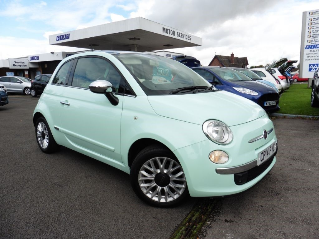 fiat 500 lounge green 2014 in chepstow monmouthshire gumtree. Black Bedroom Furniture Sets. Home Design Ideas