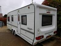 Coachman laser twin wheel 5 berth caravan with air con, motor movers etc