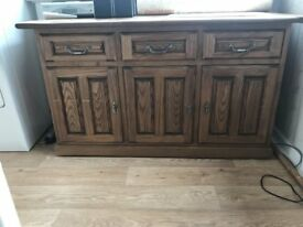 Ash wood sideboard