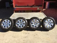 "Genuine Load Rated VW Caravelle Transporter T5 16"" Alloy Wheels and Tyres"