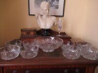 Stuart Crystal Salad Bowl Set
