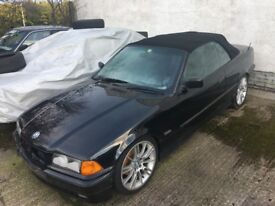 BREAKING PARTS SPARES - BMW 3 series E36 325i M50 Convertible - Black / LSD available