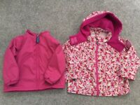 Girls Toddler JOJO MAMAN BEBE 3 in 1 Coat / Jacket 18-24 Months