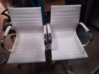 White/Chrome Swivel Office Chair