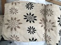 Curtains - gold and black flowers