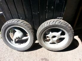 honda dylan 125 WHEELS front and back