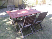 Patio Garden Set Table and 4 Chairs FREE LOCAL DELIVERY