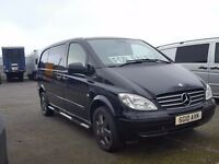 2010- 10 plate mercedes vito 111 cdi 7 seater dualiner black edition compact van plus vat
