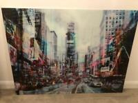 Glass Wall Art Times Square RRP £399