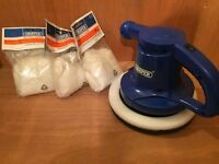 Draper electric polisher AS NEW perfect condition includes 4 BRAND NEW sealed buffing cloths