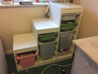 Storage combination with boxes from Ikea