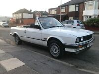 Bmw e30 320 convertible recent roof works fine very clean car long mot loads of paper work