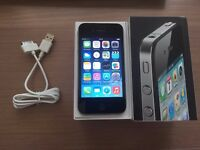 iPhone 4 Unlocked Black Excellent Condition no scratches on glass always kept in case