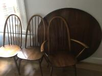 *BARGAIN* Ercol Dining Table & 4 Windsor Chairs in Golden Dawn £350