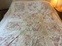 BedSpread - American Style Patchwork Rosebud and Gingham